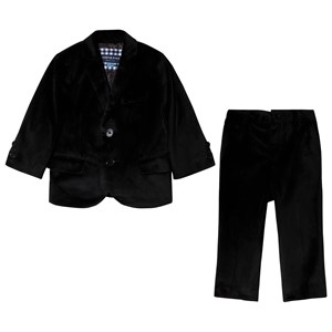 Image of Andy & Evan Black Suit Set 12-18 months (3125283533)