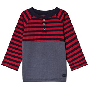 Image of Andy & Evan Navy and Red Striped T-Shirt 9-12 mdr (1238134)