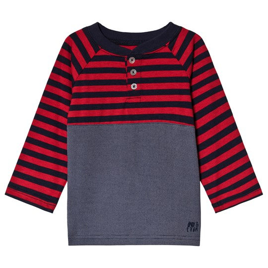 Andy & Evan Navy and Red Striped T-Shirt RDP