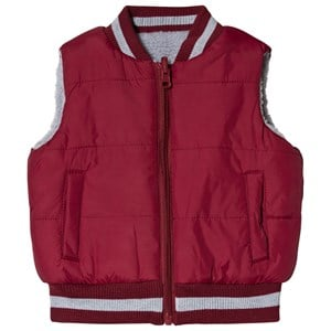 Image of Andy & Evan Grey and Maroon Reversible Teddy Fleece Gilet 12-18 months (3125283829)