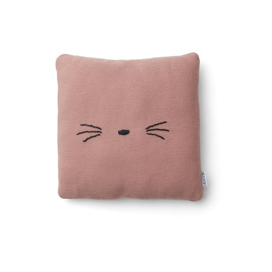 Liewood Leonora Knitted Cushion Cat Rose 0022 Cat rose