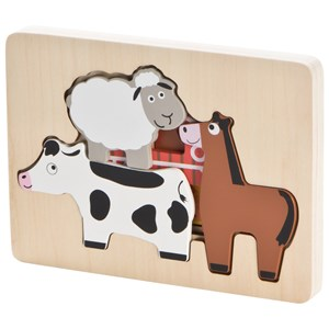 Image of Wood Little Farm Puzzle One Size (1137198)