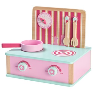 Image of Wood Little Folding Kitchen Pink (3125306837)