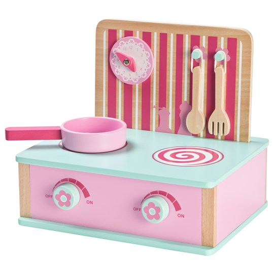 Wood Little Folding Kitchen Pink
