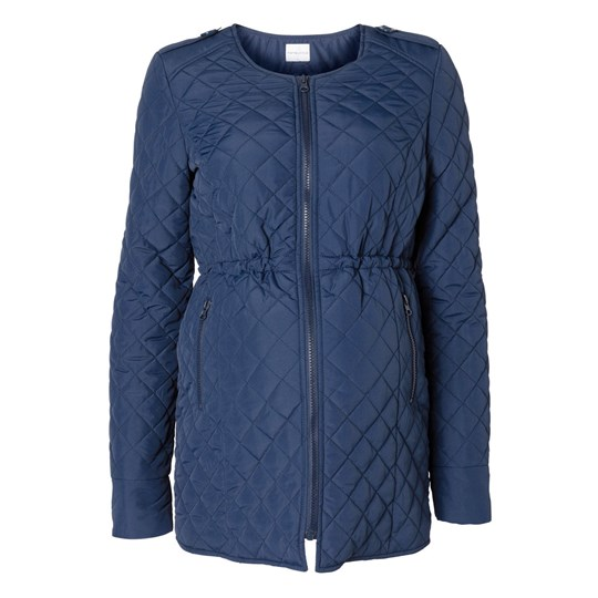 Mamalicious Quilty Short Jacket Navy Blue