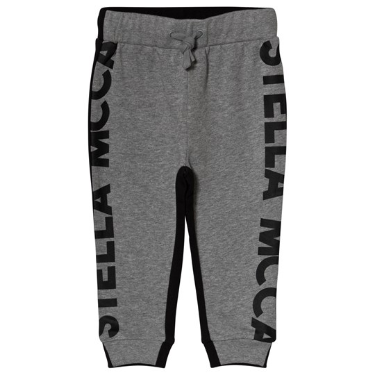 Stella McCartney Kids Grey and Black Branded Sweatpants 1461 - Thunder