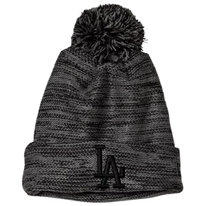 Image of New Era Grey & Black Los Angeles Dodgers Beanie 53.9-54.9cm (Youth 6-12 years) (3125290343)