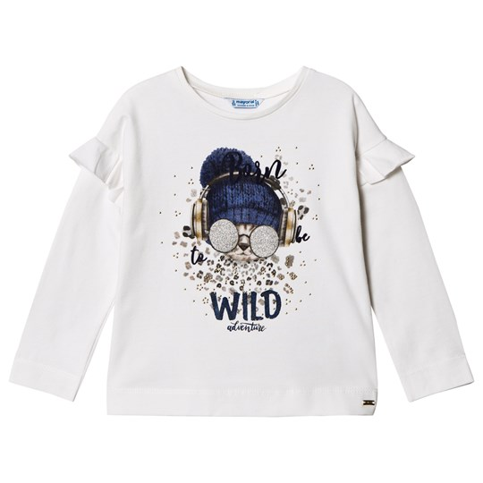 Mayoral White Born Wild Cat Graphic T-Shirt 26