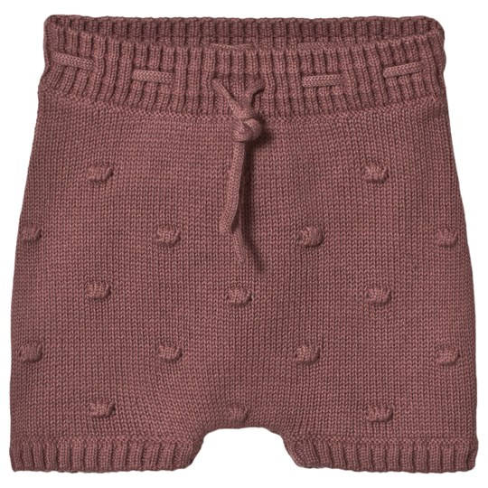 Hust&Claire Harper Knit Shorts Purple Plum wine