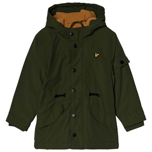 Image of Lyle & Scott Country Green & Burnt Orange Microfleece Parka 4-5 years (1157287)