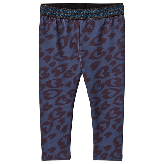 Stella McCartney Kids Blue Leggings with Heart Print 4098 - Biro Hearts Pr