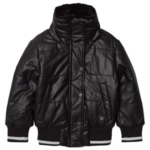 Image of Pepe Jeans Black Annabelle Faux Fur Collar Pleather Puffer Jacket 10 years (3125260261)