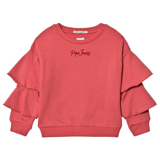 Pepe Jeans Soft Red Saida Ruffle Sleeve Sweater 210