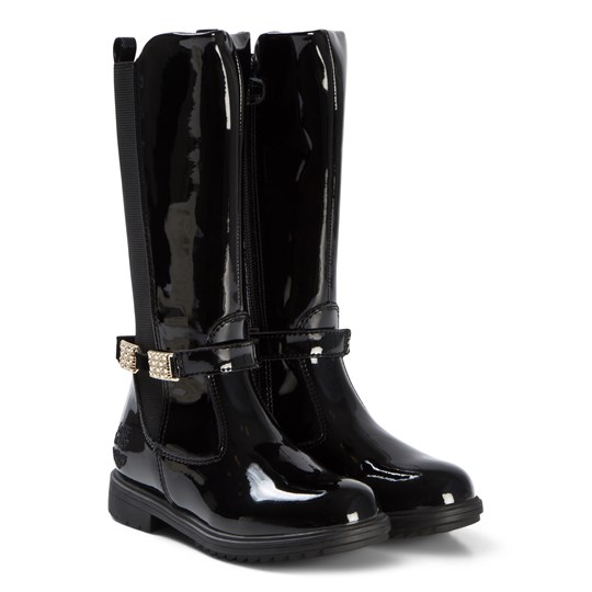 Lelli Kelly Black Eloisa High Boots BLACK PATENT