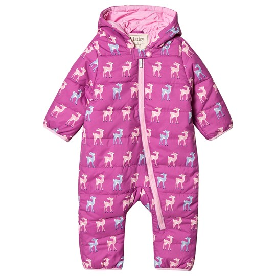 Hatley Patterned Fawn Overall Rosa Purple