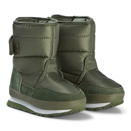 Rubber Duck Nylon Suede Solid Kids Green Khaki
