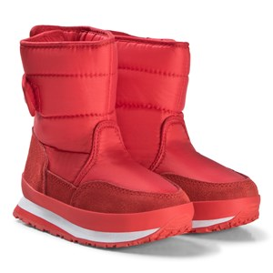 Image of Rubber Duck Nylon Suede Solid Kids Boots Red 25 EU (3125268223)