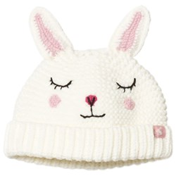 Joules Cream & Pink Bunny Knitted Baby Beanie