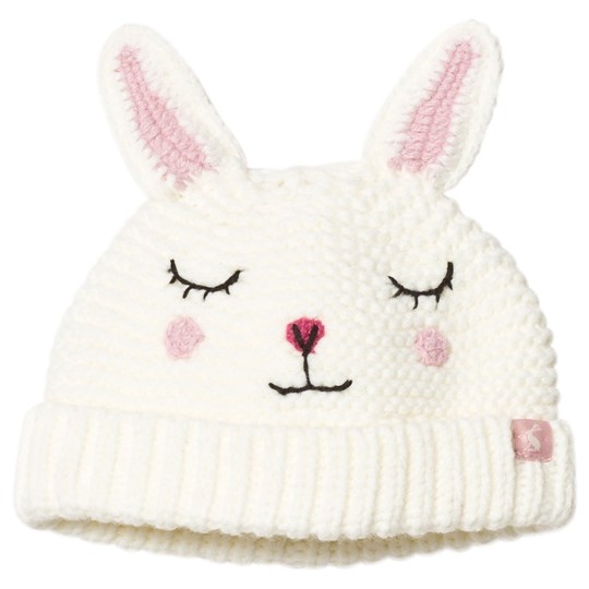 Tom Joule Cream & Pink Bunny Knitted Baby Beanie BUNNY