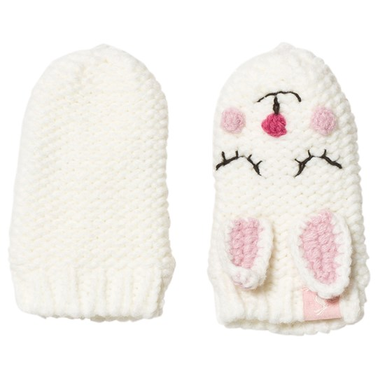 Tom Joule Cream & Pink Bunny Knitted Baby Mittens BUNNY