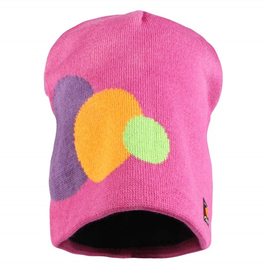 Isbjörn Of Sweden Circles Knitted Cap Very Berry Pink
