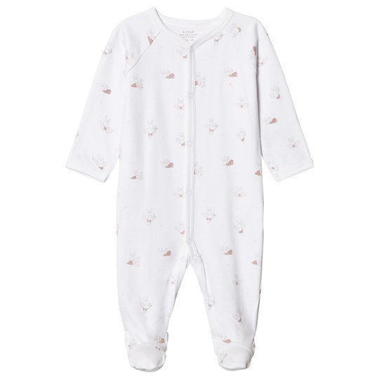 Livly Baby Bunny Angels Simplicity Footed Baby Body White baby bunny angels
