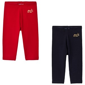 Image of Mayoral 2-Pack of Red/Navy Gold Embroidered Leggings 12 months (3125240711)