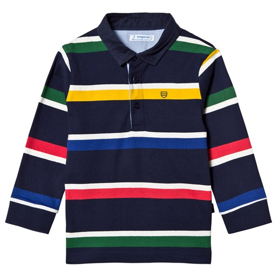 Mayoral Navy & Primary Colors Striped Polo 62