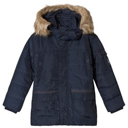Mayoral Navy & Faux Fur Padded Jacket