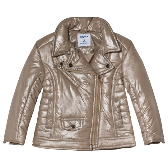 Mayoral Gold Metallic Padded Jacket 16