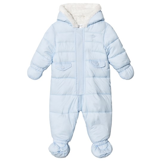 Mayoral Ice Blue Fleece Lined Coverall 15