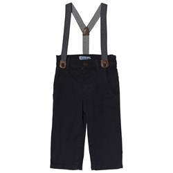 Mayoral Navy Chinos with Suspenders