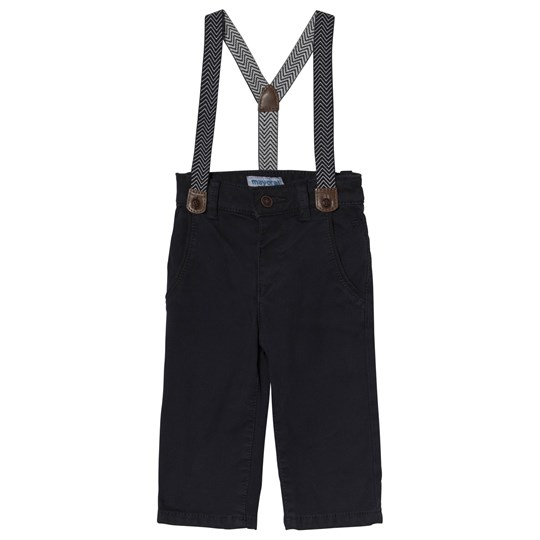 Mayoral Navy Chinos with Suspenders 41