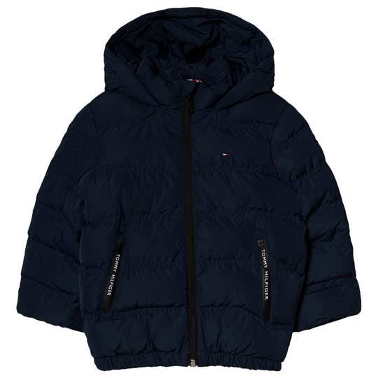 Tommy Hilfiger Navy Essential Branded Padded Jacket 002