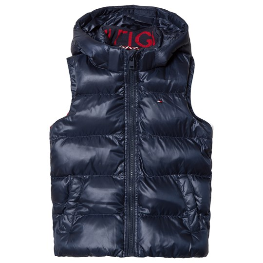 Tommy Hilfiger Navy, Red & White Padded Gilet 002