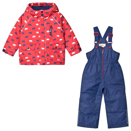 Hatley Navy and Red Black Bear Snow Set Red and Blue