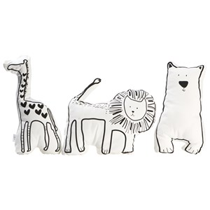Image of JOX Bear, Giraffe and Lion Pillow Set White One Size (1153042)
