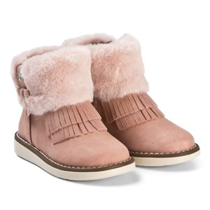 Image of Mayoral Pink Faux Fur Fringed Cuff Boots 24 (UK 7) (3125269059)