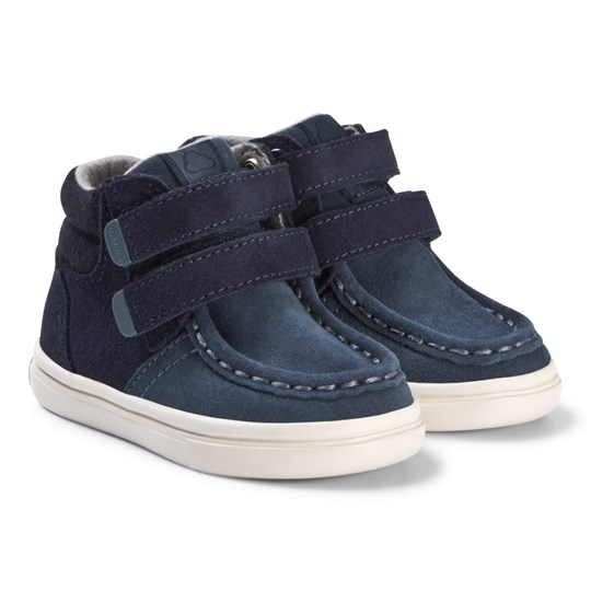 Mayoral Navy Velcro Leather Hi Tops 77