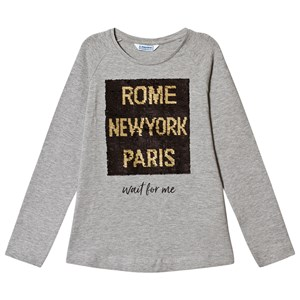 Image of Mayoral Flippy Sequin Tee Grey 12 years (3125240751)