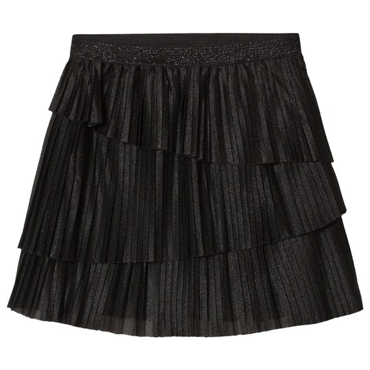 Mayoral Black Glitter Pleated Skirt 83