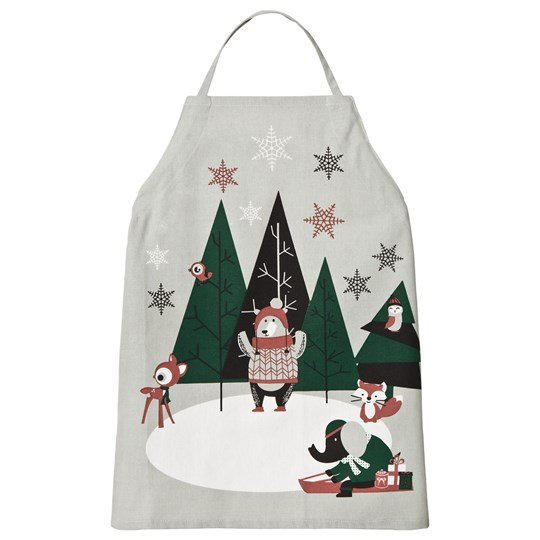 FORM Living Winter Animals Apron Green