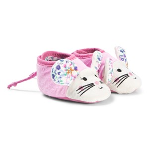 Image of Tom Joule Pink & Floral Print Baby Mouse Slippers 6-12 months (3125312849)
