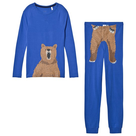 Tom Joule Blue Kipwell Bear Print Pajamas Dazzling Blue