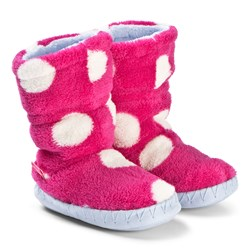 Tom Joule Pink Spotted Padabout Slipper Booties