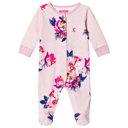 Tom Joule Pink Floral Print Footed Baby Body PINK MARL GRANNY FLORAL