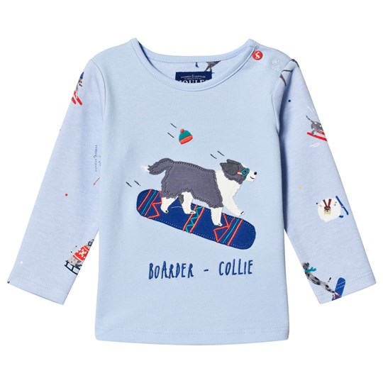 Tom Joule Baby Jack Skating Dog Applique T-shirt Blå SKY BLUE DOG