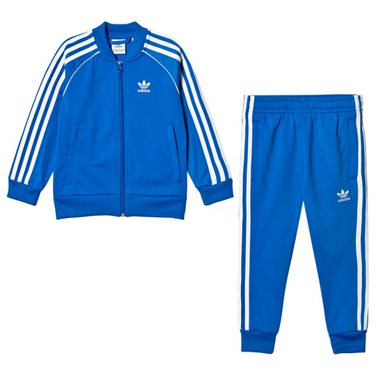 adidas Originals Blue Superstar Kids Tracksuit Bluebird