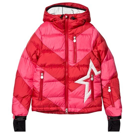 Perfect Moment Red & Pink Super Mojo Ski Jacket RED/PEACH PINK