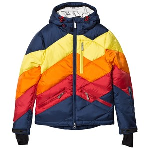 Image of Perfect Moment Navy and Rainbow Chevron Superday Jacket 14 years (3125300215)